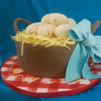 Egg Basket I made this cake for the Southern New Mexico State Fair. I used Sharon Zambito's tutorial for an Easter egg basket as inspiration. I...