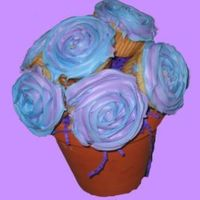 Cupcake Bouquet My first try at the ever popular cupcake bouquet. Thanks CC for all the ideas.