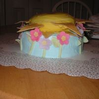 Spring Cake lemon cake with BC icing and fondant decorations