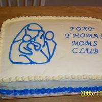 Moms Club For local MOMS Club Open House. Logo was done with a gel transfer.