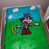Boots The Monkey The black icing I used to outline the FBCT ran and ruined the effect.