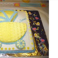 Baby Shower Carriage This my shower cake when i was pregnant with my first son. at the top it says.. WHAAAAA like its coming from the baby inside but it's...