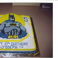 Batman BATMAN pan with b.c. icing
