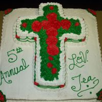Cross Cake this was done for a ladies conference at my church