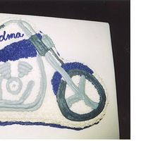Motorcycle For Grandma this was my mom's cake for her 60th birthday.. she got a Harley Davidson.. You Go Grandma!!!