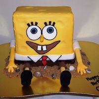Spongebob Squarepants My first ever Spongebob. I am so proud. White choc mud cake covered in fondant. His hands and feet are dowels covered in sugarpaste. Eyes,...