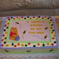 Little Pooh Baby Shower Inspired by a little Pooh Baby shower napkin - Jelly Beans were used as a tribute to the mother's nickname of Beanie. Pooh and Bees...