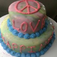 Peace Love Happiness Hippie really bad picture, got a few rain drops on the way to the car :) Buttercream and MMF