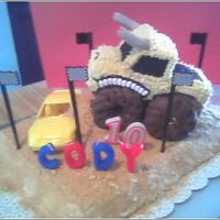 Monster Truck My kids love Monster Jam, so I made this cake last year. (1 of 2 Monster Jam cakes I've made) The truck is made out of frozen pound...