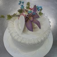 Look What I Did In School! This is the project I did for Techniques of Cake Decorating, Course 3, at the Institute of Culinary Education, with Toba Garrett. Course 3...