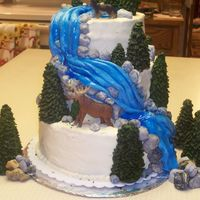 2Nd Photo Of Waterfall Birthday Cake   here's another view of the cake