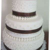 Wedding Cake For Fair cake dummy used for our local fair mm fondant with buttercream accents