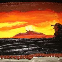 Cowboy Sunset I am not a big fan of decorating sheet cakes, but when a client lets me have fun with the theme, I think they can be pretty great. This...