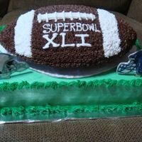 Superbowl Xli A free giveaway cake to promote business. The winner was very pleased.