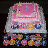 Disney Princess Cake & Cupcakes