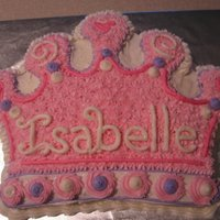Princess Crown Wilton crown pan for a girl's birthday. All BC, and added cake sparkles to make it sparkly!