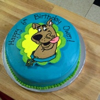 Scooby Doo Cake Faux fondant with FBCT.