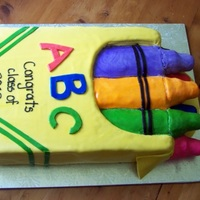 Crayon Box Could not have made this cake without tguegirl's tutorial. This is the first version before the cake got stuck to the box and riped...