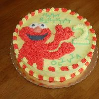 Elmo I made this cake for my friend's daughter. Traced Elmo from a coloring book, cut it out and then outlined it on the cake. One of these...