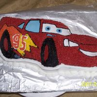 Lightening Mcqueen Cake Lightening McQueen cake Made from the wilton cake pan.
