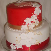 Red Bday this for a customer who wanted an elegant cake