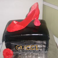 Gucci Shoe Box And Shoe bag & shoe bday cake