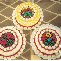 Christmas Cakes   These were done as a Thank You to people who recomended me for cakes. All were FBCT.