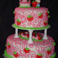 Whimsical Strawberry Shortcaketiered Birthday Cake I did this cake for my Course 3 final cake. I covered the layers in buttercream and fondant. And with buttercream accents. I did chocolate...