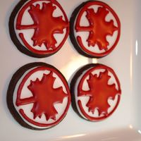 Air Canada Cookies   Rolled Chocolate cookies with Antonia74's RI. Made for a group of Air Canada employees finishing up their training.