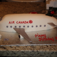 Air Canada Cake  I ran out of time with this cake. The fin is far too small, but I simply didn't have time to make another one. Also, the tail should...