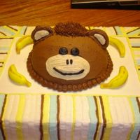 Monkey Cake The mommy-to-be is decorating the baby's room in blues, yellow and browns with monkeys. The used this as the shower theme as well but...