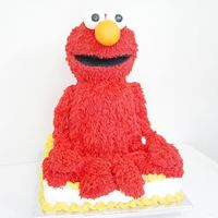 Elmo Cake This is my second Elmo. This was done in a hurry so it didn't come out as well as the first one that I made. I like how he looks like...