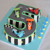 Race Track Cake Made for my sons 5th birthday party.