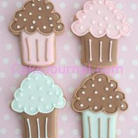 Mini Cupcake Cookies Sugar cookies decorated with RI. Template can be found on my website:-) TFL!