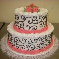 Sherriescakemagic12.jpg All buttercream. 12 x 8 stacked round.