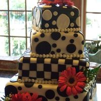 "I Really Can Do A Fondant Cake!! 6, 8, 10, 12"" WASC, Indydebi's buttercream, Michele Foster's fondant, Jennifer Dontz's pearl clay ... thanks to..."