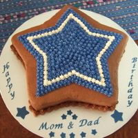 Dallas Cowboys Birthday Cake Chocolate/chocolate buttercream, Wilton star pan. Many thanks to Inacake for your help! :)