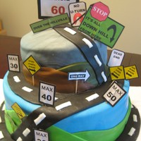 Road Of Life Over The Hill Cake