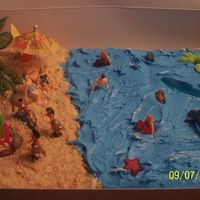 Beach Cake This was made for a luau party...