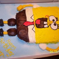 Spongebob First Spongebob cake I have did. After looking at the pictures there are somethings I would change, but overall I think it turned out...