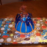 Another Picture Of Cheerleader Cake