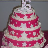 Sweet Sixteen This was made for my daughters sweet sixteen party. She wanted everything pink with stars.