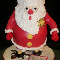 Santa's Oops This is all cake (and it was pretty big!) Santa realizes that he has stepped on the mouse from the book, The Night Before Christmas, which...