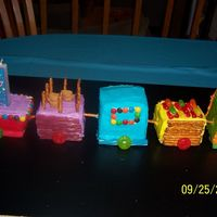 Better View Of Train Cake train with cars