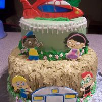Little Einsteins colorflow decorations, buttercream icing