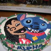 Lilo And Stitch   This cake was for my daughter's last day at daycare. Thanks CAMBO for all of your help couldn't have done without you.