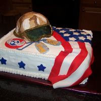 Air National Guard Return Safe  I did this cake for a family friend in the TN Air National Guard who is being deployed to Iraq. The cake was for a party at the Sheriff&#...
