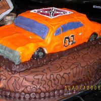 General Lee   Could not ever get this cake right. Must have been a bad day -- when I was getting it out of the car, I put my hand in it. Oh well