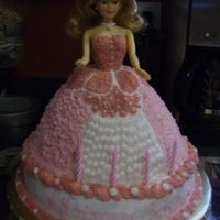 Pink Princess Cake  I made this for my best friend's granddaughter who is 4 today. She said she wanted a standing doll, all dressed in pink..I think I...