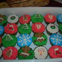Christmas Cupcakes  I made these for my daughter's 1st grade Christmas Party at school today!! The kids fought over the reindeer cupcakes. Yellow cake,...